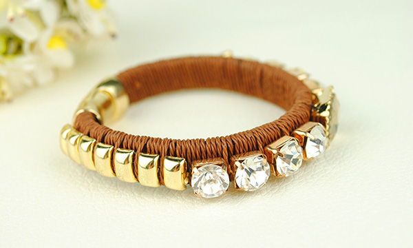 Magentic Gold Bangle Bracelet