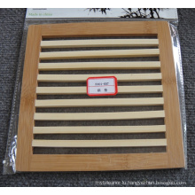(BC-M1008) Handmade Natural Bamboo Square Heat Insulation Mat