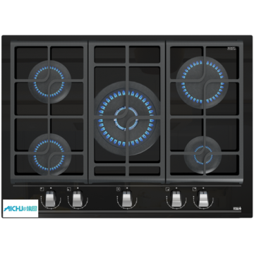 Gas Hobs 5 Burner Built-in Plate