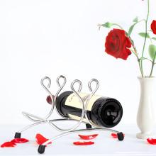 Support de casier à vin à double bouteille en métal en acier inoxydable