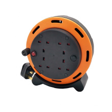 Overload Protected UK 4 way extension cord reel