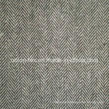 Wool Polyester Fabric with Herringbone for Coat (Art#UW083)