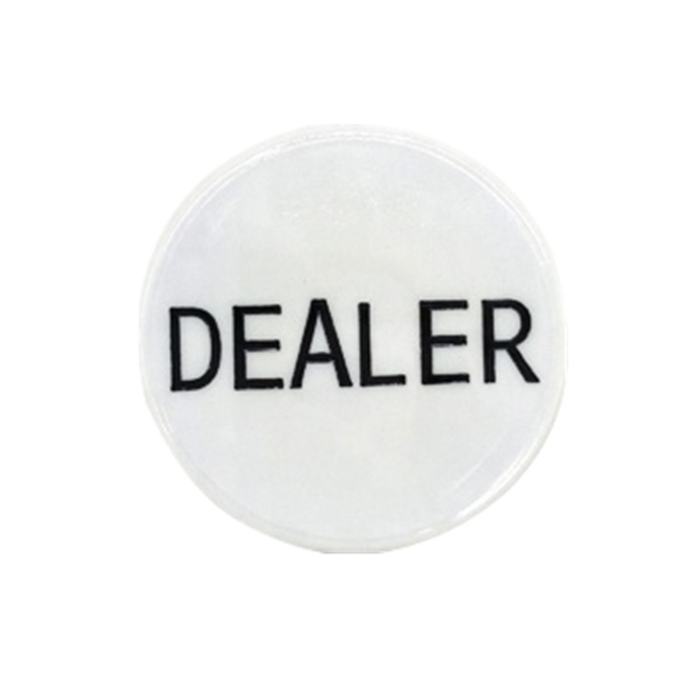 White Acrylic Dealer Button