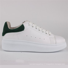 Femmes Chaussures PU Injection Chaussures en cuir Chaussures Casual Snc-65005wht