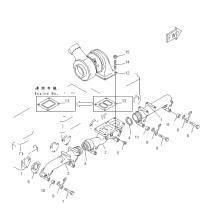 TURBOCOMPRESOR 6502-12-9004 DEL MOTOR GENUINO KOMATSU SA6D155-4