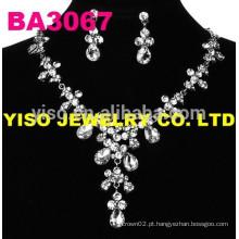 Conjunto de jóias de casamento de fantasia