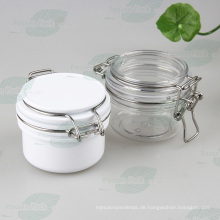 Hochwertige Kunststoff-luftdichte Kosmetik-Glas, Kunststoff-Maske Jar (PPC-39)