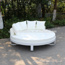 Outdoor Aluminum Frame Round Patio Bed With Cushion