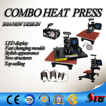 Vente chaude Stc Combo multifonction chaleur Machine de presse