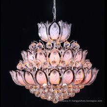 Or placage petit lustre pour la décoration de salle à manger lustre en cristal éclairage