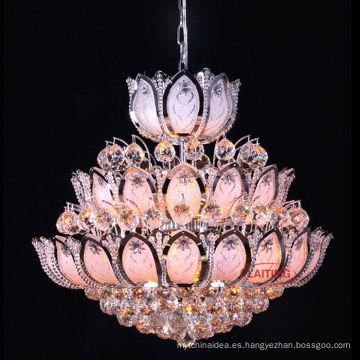 chapa de oro araña pequeña para la decoración de la sala de cena iluminación de araña de cristal