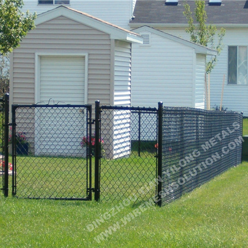 Green PVC Chain Link Fence Diamond Mesh