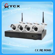 Onvif P2P 4CH 1.3MP 960P 2.4G inalámbrico WIFI cámara IP NVR Kits para seguridad en el hogar interior y exterior