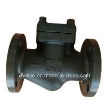 Válvula de verificação de aço forjada padrão do pistão da extremidade da conexão da flange do RUÍDO