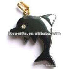Hematite Dolphin Pendants