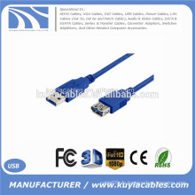 6ft 1,8 m Kabel USB 3.0 Verlängerungskabel AM zu AF Kabel männlich zu weiblich Kabeladapter blau