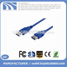 6 футов 1,8 м Кабель USB 3.0 Удлинительный кабель AM к AF Кабели между мужчинами и кабельными адаптерами Синий