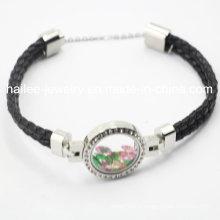 Meilleur bracelet en cuir en acier inoxydable avec rangement