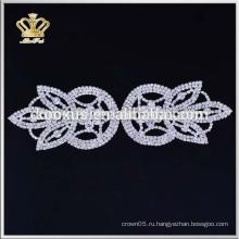 Оптовые изготовленные на заказ bridal applique rhinestone для платьев венчания