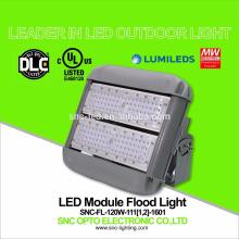 Iluminación al aire libre IP65 LED Luz de inundación 120w con la aprobación UL CUL DLC