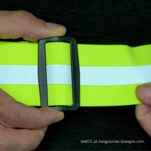 Cinto elástico com alças reflexivas para caminhada e corrida