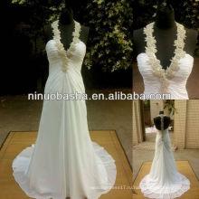З-393 элегантный бисером Холтер шифон свадебное платье