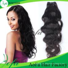 100% unverarbeitete indische Menschenhaar Remy Virgin Weavon Haar