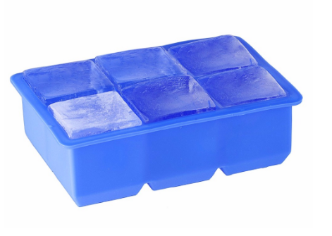 6 cavity ice cube tray