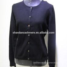 Suéter que hace punto de la cachemira de las mujeres del suéter de la cachemira de la fábrica de la mogolia 2016
