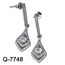 New Arrival Fashion Jóias 925 Sterling Silver Dangle Brincos (Q-7748)