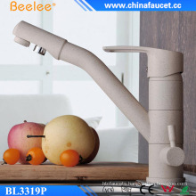 Brass Pure Water Painting Three Way Kitchen Faucet
