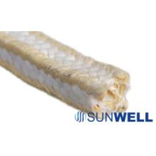Белая упаковка из политетрафторэтилена с арамидными углами