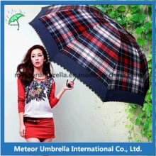Parapluies pli télescopiques compacts pour cadeau promotionnel