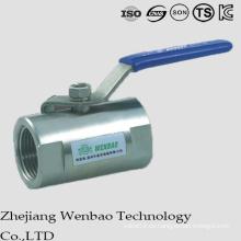 Válvula de bola de acero inoxidable con puerto reducido monobloque tipo Guang