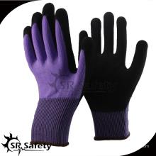SRSAFETY 2016 новый стиль 13 guage нейлон spandex нитриловая пена перчатка дышащая, песчаная отделка, рабочие перчатки