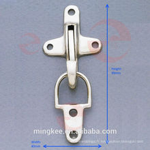 Serrure à boucle plane en nickel pour sac / valise / valise (P2-31A)