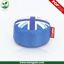 Union Europea Jack bandera ronda taburete, gran bandera inglesa bean bolsa