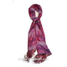 New arrival ladies viscose shiny stripe long scarf/shawl