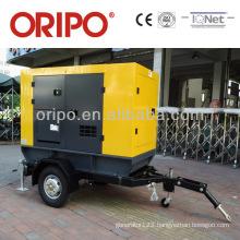 Enclosed cargo trailer 40kva standby power trailer generator