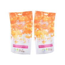 Factory Printed Customize Size Plastic Packaging Zipper Zip Lock Rice Flour Grain Packaging Stand up Pouch