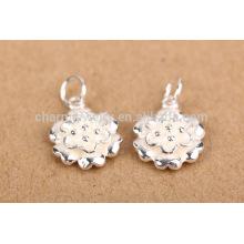 Hallazgo de la joyería de sef099 DIY, tendencia 925 libra esterlina flor de loto colgante de las pulseras del encanto para el collar