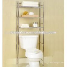 Creative Bath 3-Piece Over the Toilet Shelf\ Chrome Material Bath Self with Wheels\Space Saving Self for Bath Room