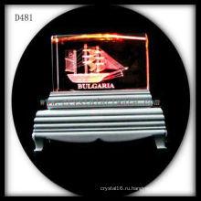 К9 3D лазерное Подповерхностного изображения красочные Кристалл Вытравленный