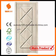 New Design Boutique Green Healthy Wooden Door with Ce