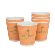 Colorful Disposable Single wall paper cup with lid