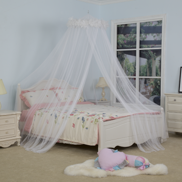 Bed Canopy Hanging White Feather Umbrella Moskitonetz