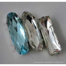 Perles de cristal pour le vêtement, décoration pour artisanat, robe de mariée