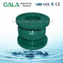 Stainless globe type sewage check valve
