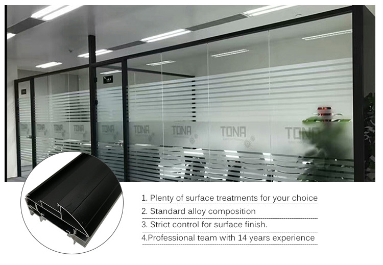 aluminium profile office partition