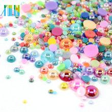 Bulk plastic flat back pearls beads FP02